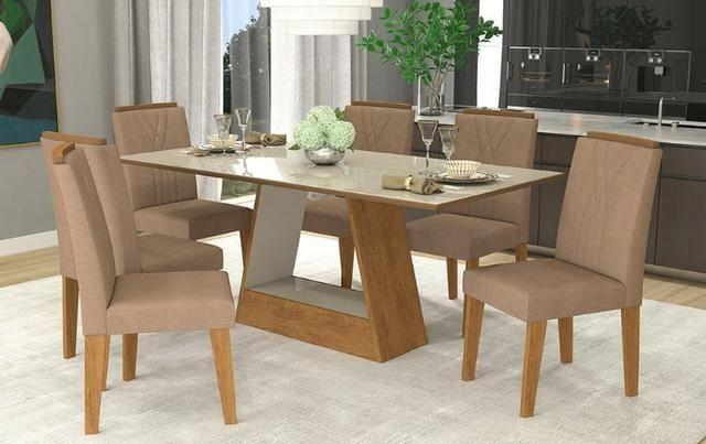 Mesa de Jantar com 6 Cadeiras Alana - Foto 2