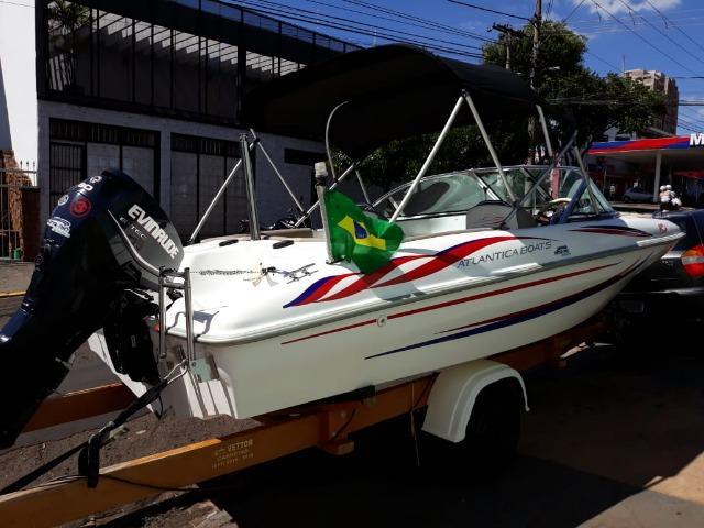 Lancha Atlantic Boat 16 Pés Motor 60Hp - Foto 5