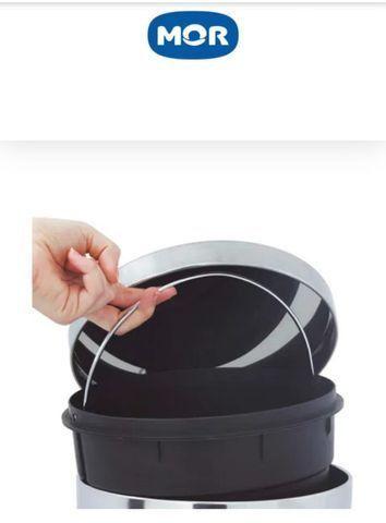 Lixeira em inox 30 litros - Mor - Foto 2