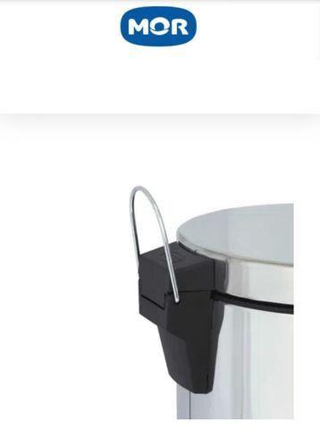 Lixeira em inox 30 litros - Mor - Foto 5
