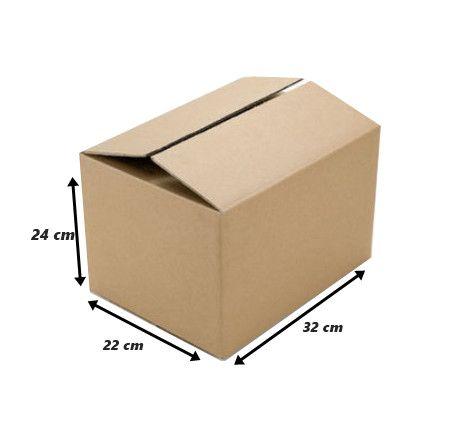 10 Caixa de papelão onda simples 32 x 22 x 24 cm