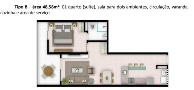 CB-Beira mar flat 1qts WC sala varanda R$ 199.000,00 - Foto 8