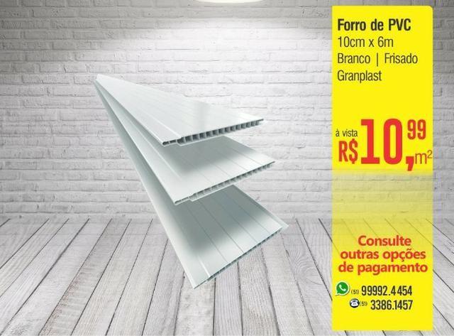 Forro Pvc 10cm x 6m - Branco Frisado