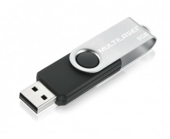 Pen Drive 8gb USB 2.0 Twist preto PD587 Multilaser - Foto 3
