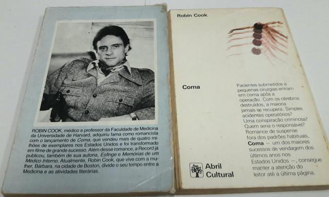 2 Livros de Robin Cook: Cérebro , Coma - Foto 2