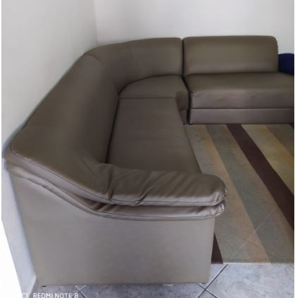 Sofá Lavável tipo Couro ´Em L - Móveis - Timbó 784059451   OLX