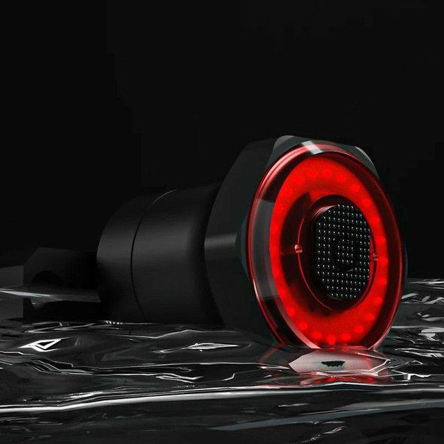 Luz Inteligente para Ciclismo sensor de luz, alerta de freio pisca - Foto 2