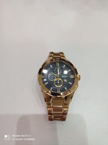 Relógio Orient novinho banhado a ouro