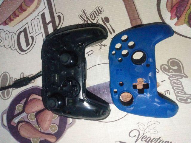 Controle para Nintendo/Pc/Celular com fio face off deluxe azul pdp - Foto 3