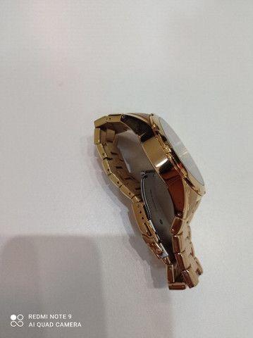 Relógio Orient novinho banhado a ouro  - Foto 4