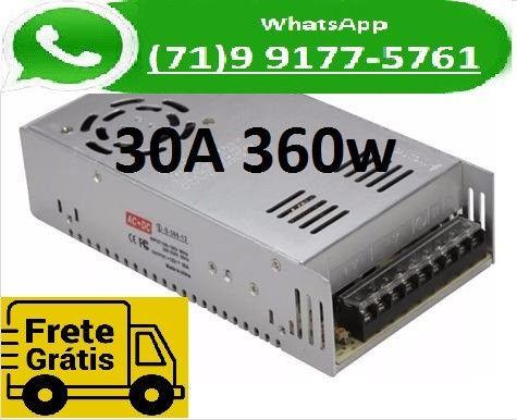 Fonte Chaveada Transformador 110v -220v Para 12v 30a 12 Volts 30 Amperes (NOVO)