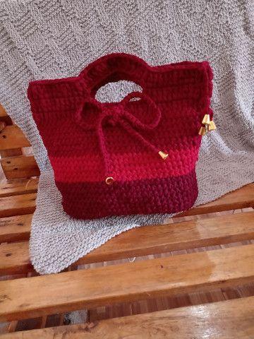 Bolsas de crochê - Foto 3
