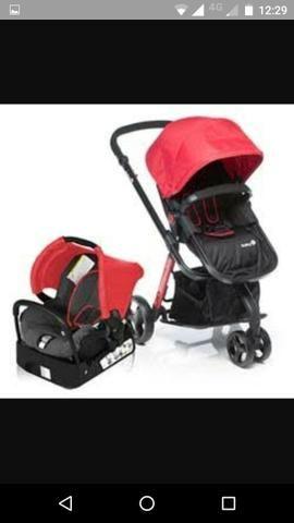 Carrinho de bebê travel system Safety 1st Completo com bebê conforto e base para carro