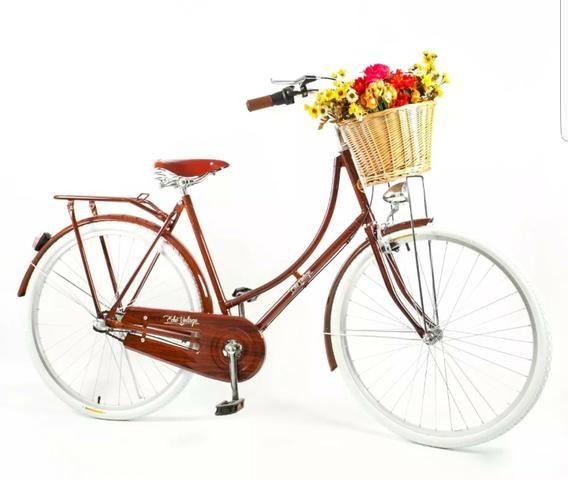 Bike estilo retrô porém moderna 3 marchas