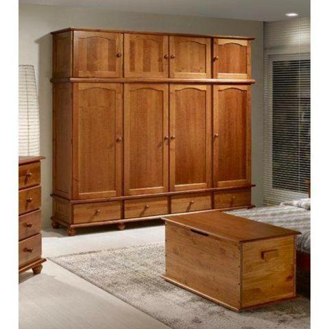 Guarda roupa de madeira com 4 portas 12x283,90