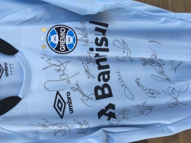 Camisa do Grêmio Autografada - TAM.G