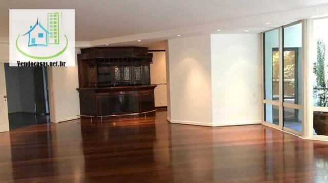 Apartamento com 5 dormitórios para alugar, 541 m² por r$ 23.000/mês - santo amaro - são pa - Foto 4