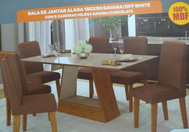 Mesa de Jantar com 6 Cadeiras Alana