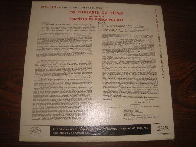 Titulares do Ritmo, 10 pol 33 rpm, Usado, Rara Conservação - Foto 2
