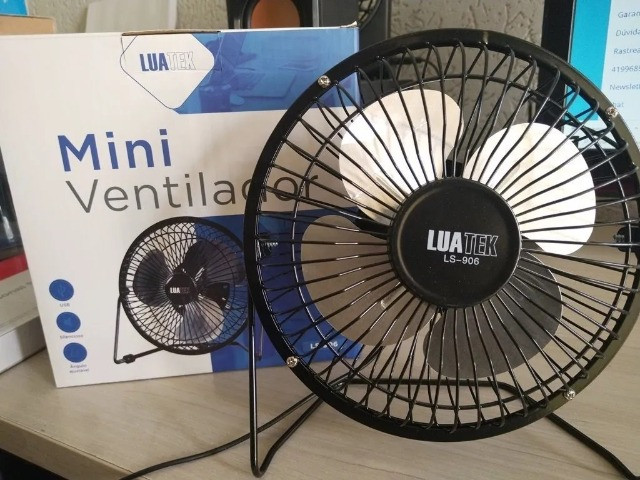 Mini Ventilador 5v Usb Luatek Para Pc, Notebook Em Metal Mesa- (Loja BK Variedades) - Foto 5