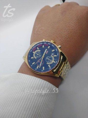 Relógio de pulso masculino original nibosi modelo 2375 resistente a água - Foto 3