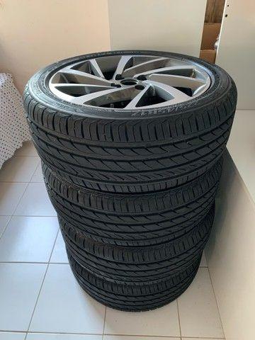 Jogo de rodas novo  aro 17 com pneus novos - Foto 7