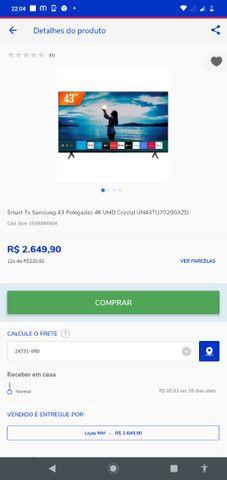 Tv Samsung 43 cristal - Foto 3