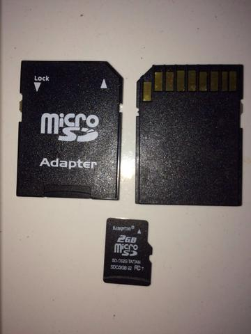 Adaptador Micro SD + Memória 2GB Kingston