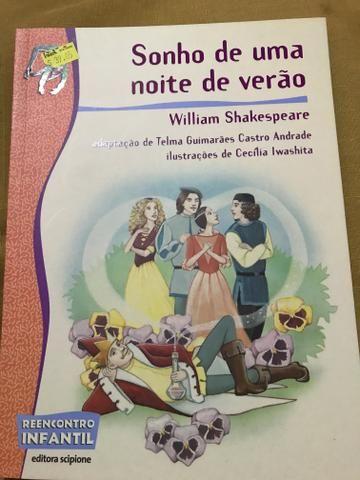 Livro Sonho de uma noite de verão, de William Shakespeare