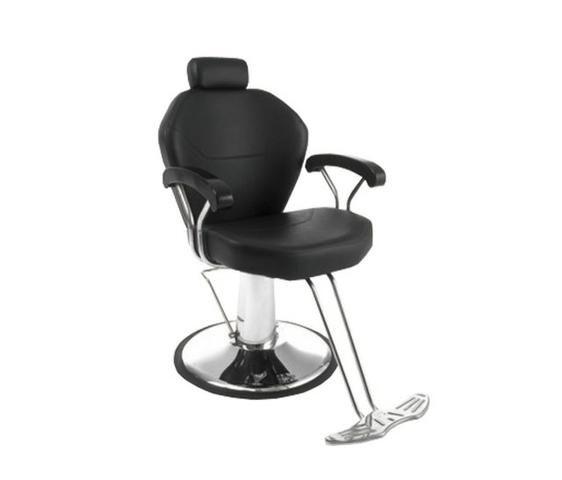 Cadeira para barbearia reclinavel hidraulica base redonda