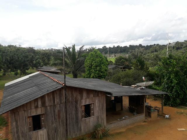 Sitio cujubim na reserva dos piriquito troca por casa em porto velho , ou candeias