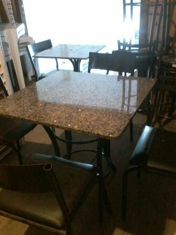 (Barbada) Conjunto de mesas e cadeiras 0,80cm x0,80cm - Foto 2