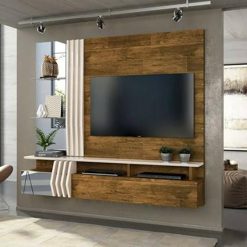 "Painel Home Suspenso para TV 55"" Bello 100% MDF - Foto 4"