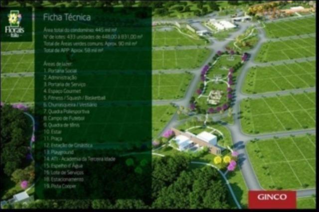 Terreno Florais Itália com 458,79m² Jardim Itália condomínio fechado - Foto 6
