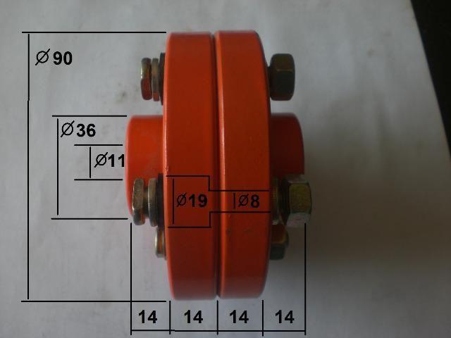 Acoplamento de pino com flange novo FCL 90 - Foto 2