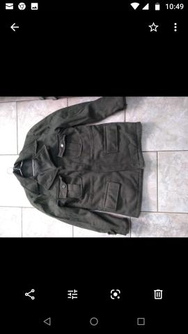 Jaqueta de lã verde militar