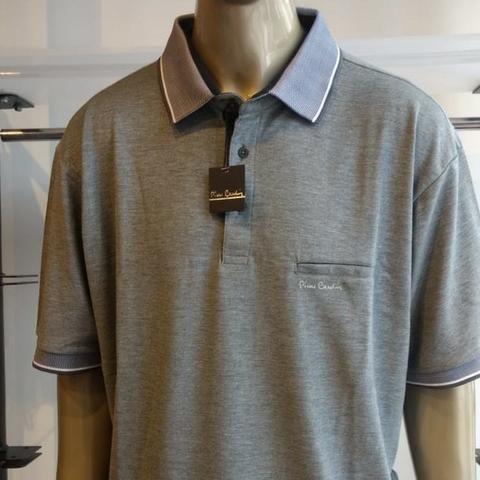 f732169b1 Camisa Polo Masculina Pierre Cardin Original Plus Size 07 G2 ...