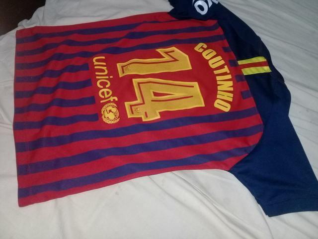 12536e5a02d Camisa de time infantil (Barcelona) Coutinho - Esportes e ginástica ...