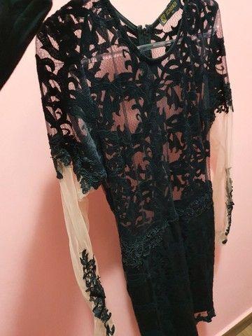 vestido preto com transparência  - Foto 6