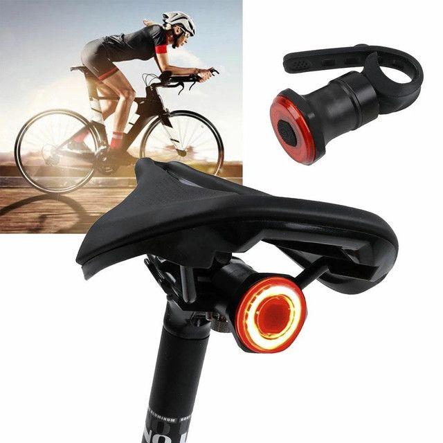 Luz Inteligente para Ciclismo sensor de luz, alerta de freio pisca