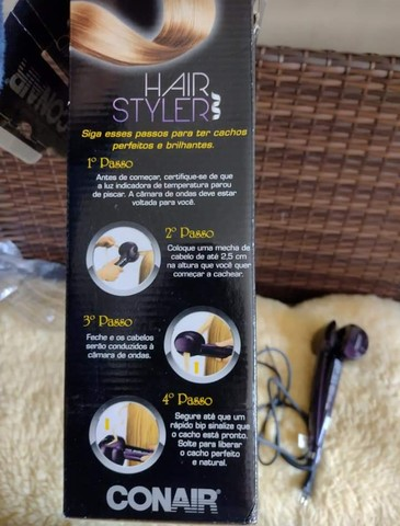 Conair hair styler de fazer cachos e Escova alisadora gama digital - Foto 5