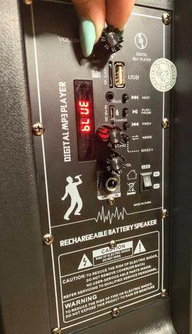 Caixa de Som Super Bass 2000w de Potência Bluetooth Microfone e Controle! - Foto 5