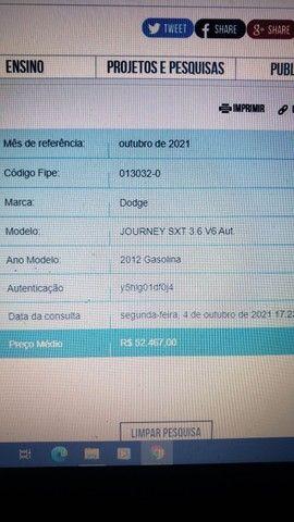 Dodge Journey STX 7 lugares 3.6, Seg. Dono 2021 vistoriado em meu nome, particular  - Foto 10