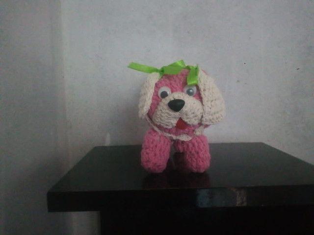 Artesanato cachorrinho de crochê - Foto 3