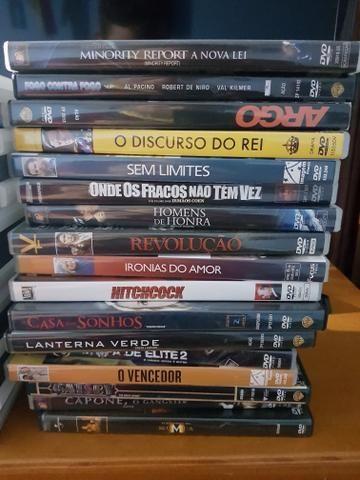 DVDs diversos a 5 reais cada