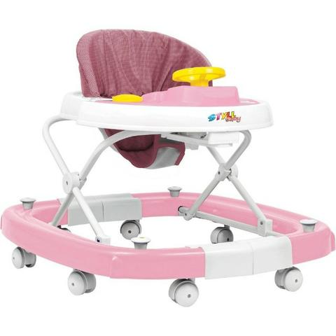 Andador Balanco 8 Rodas Regulav. Rosa Styll Baby