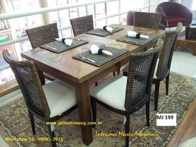 Mesas,cadeira, aparadores e racks é na Interiores móveis artesanais - Foto 2