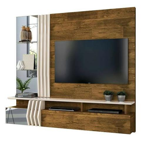 "Painel Home Suspenso para TV 55"" Bello 100% MDF - Foto 5"