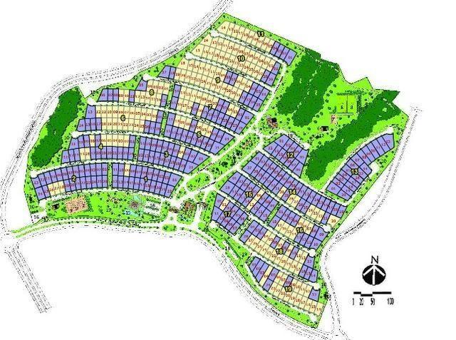 Terreno Florais Itália com 458,79m² Jardim Itália condomínio fechado - Foto 18