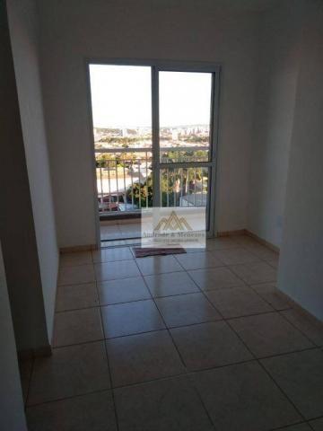 Apartamento com 2 dormitórios para alugar, 50 m² por r$ 850/mês - ipiranga - ribeirão pret - Foto 2
